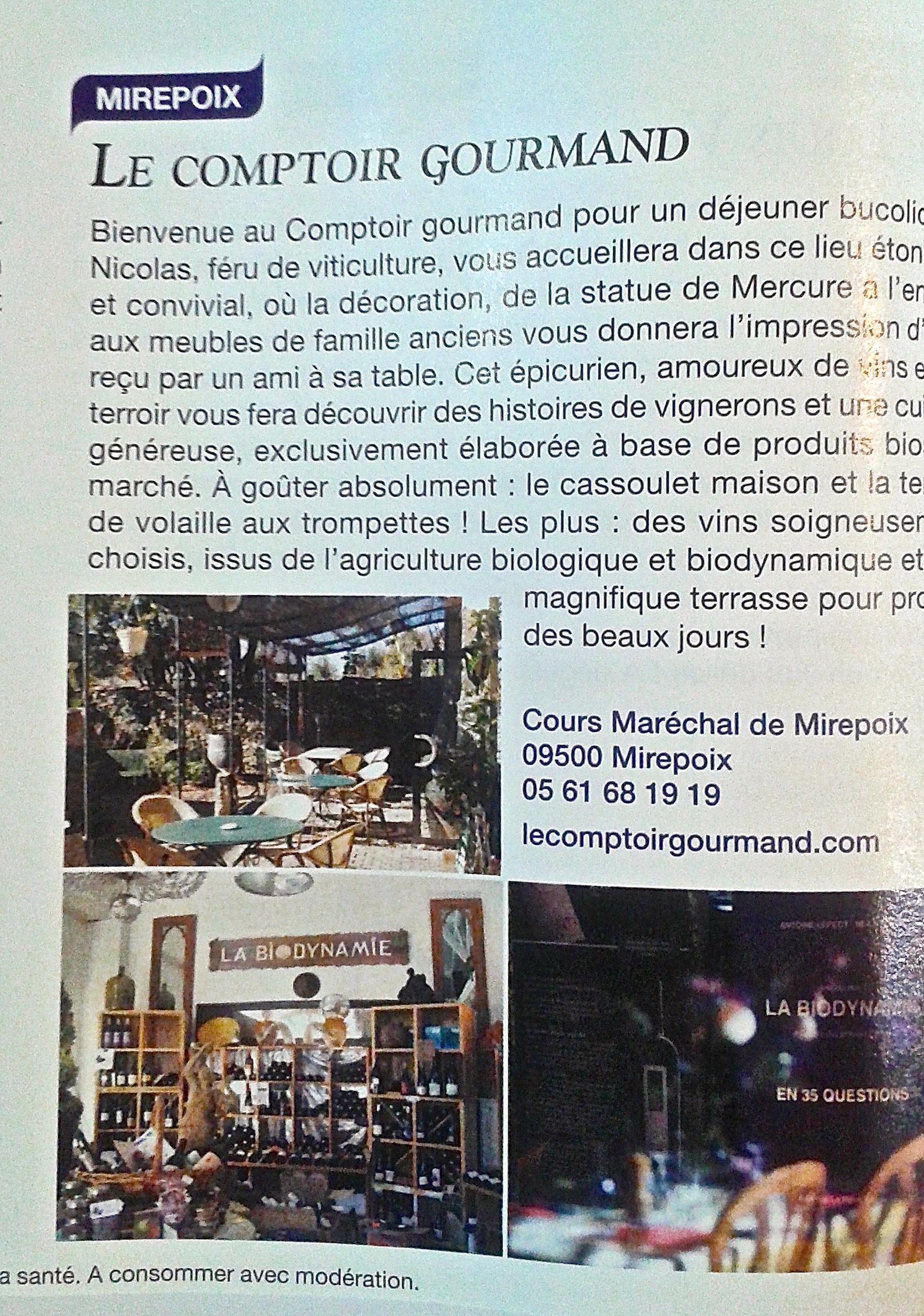 Le comptoir gourmand mirepoix l 39 art du naturel - Comptoir gourmand toulouse ...